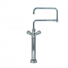 "EUROP GIG Monobloc Pot Filler on riser h 300mm., ""U"" shape double spout 25x300 + 25x300"